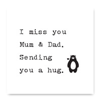 I Miss You Mum And Dad Sending You A Hug Card, Isolation Card For Mum and Dad
