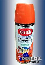 Krylon Fusion Plastic Paint 340gm - Pumpkin Safety Orange Gloss - AUS Seller