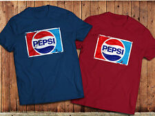 Retro Pepsi T-Shirt, various colours, graphic Vintage short sleeve old  logo