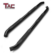 For 2005 2021 Toyota Tacoma Access Cab 3 Side Step Nerf Bar Running Board Black