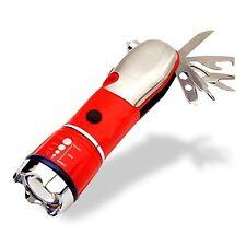 Xtreme Bright Escape Tool LED Flashlight Multitool Glass Hammer Seatbelt Cutter