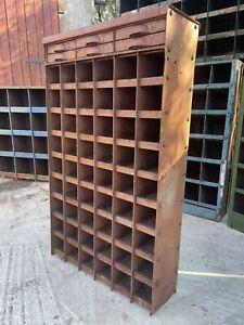 🏭 Vintage Antique Industrial Pigeon Hole Locker Cabinet Storage Racking 🏭