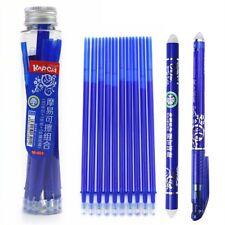 Blue Erasable Pen Set Gel Ink Pen 10 Refills 1 Eraser stick Student School Set
