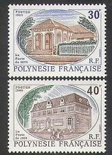 French Polynesia 1989 Post Office/Buildings/Architecture/Bike/Cycling 2v n38004