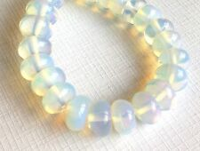 "16"" STRAND 8MM OPALITE MOONSTONE RONDELLE SPACER BEADS HIGH QUALITY"