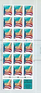 US 3278 33c city flag SA booklet of 18 BK 276 V1111 complete