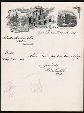 1895 Great Falls MT Holter Lumber Co Vintage Letterhead Rare