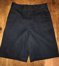 Educational Outfitters School Uniform Shorts Size 12 Flat Front Navy Blue Youth