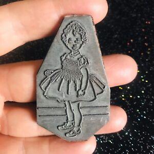 Thick Gauge Letterpress Printing Plate Little Girl
