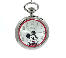 Awesome Walt Disney MICKEY MOUSE Japan Quartz Mov't 49 mm POCKET WATCH