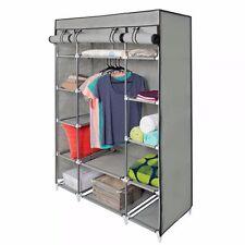 5-Layer Portable Closet Wardrobe Clothes Rack Storage Organizer With Shelf Grey