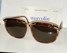 -vintage-new-marcolin-paisley-tortoise-brass-sunglasses-green-lense-made-in-italy