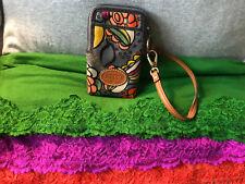 Fossil Keyper Multi-Color Floral Coated Canvas Floral CC Phone Wristlet