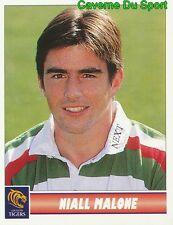 075 NIALL MALONE  LEICESTER TIGERS STICKER PREMIER DIVISION RUGBY 1998 PANINI