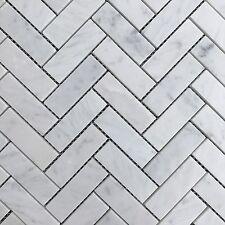 Carrara Herringbone Mosaics 305x305 Sheets Premium