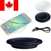 Wireless Charging Pad Qi Charger For Samsung Galaxy S6 S7 S8, iPhone 8/ iPhone X