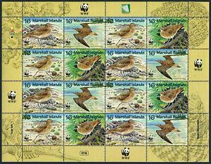 Marshall 638 sheet,MNH.Michel 830-833 bogen. WWF-1997:Bristle-thighed carlew