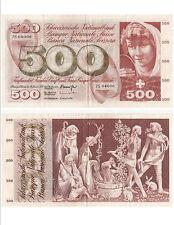 Billet banque SUISSE SWITZERLAND SWISS SCHWEIZ 500 Frs 24-01-1972 trés rare VF
