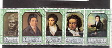 Lotto n 5 francobolli - RAS AL KHAIMA - Ludwig van Beethoven