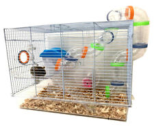 New listing 2-Floor Acrylic Clear Syrian Hamster Rodent Gerbil Mouse Mice Habitat Cage