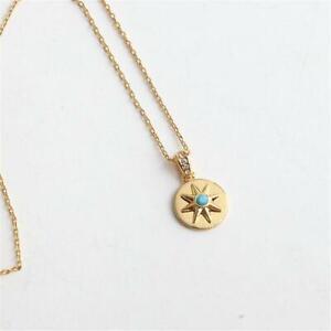 Kate Spade New York Semi Precious Nautical Star Medallion Mini Pendant Necklace