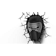 Star Wars Kylo Ren 3D Deco LED Night Wall Light Bedroom Lighting Crack Sticker