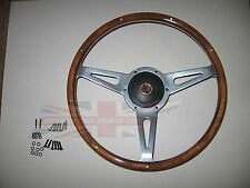 "New 15"" Laminated Wood Steering Wheel & Adaptor MGB 1977-1980 MG Midget 1978-79"
