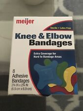 Meijer Knee & Elbow 8 Adhesive Bandages Latex Free Colorful