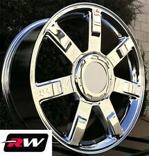 "22"" inch Cadillac Escalade Wheels 2007 2013 Chrome Rims 22x9 6x5.50"" 6x139.7 +31"