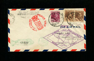 Zeppelin Sieger 58C 1930 South America Flight Spain Post Round Trip on Cover