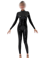 black unique Latex 100% Rubber All-body Suit Bodysuit Catsuit Size XXS-XXL