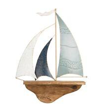 sailing boat bathroom Floating driftwood wall Shelf Solid Wooden nautical
