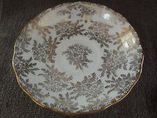 "Vintage Vale Bone China 5-1/2"" Saucer White Gold Leaf~Longton England"