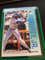 Ken Griffey Jr. 1992 Fleer Baseball Card # 279, Seattle Mariners MLB HOF'er