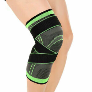 1 Pc Weaving Knee Brace Breathable Support Running Jogging Sports Joint Pain