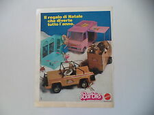 advertising Pubblicità 1981 BARBIE MATTEL