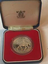 Sterling Silver Proof Queen Elizabeth II Jubilee 1977 Crown Boxed Royal Mint 925
