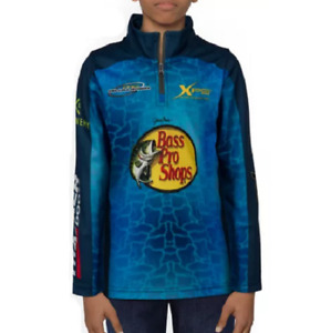 NEW Bass Pro Shops Quarter-Zip Fishing Jersey for Toddlers or Kids Size 3T