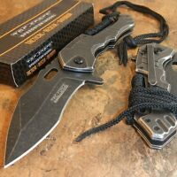 TAC-FORCE TACTICAL Spring Assisted Open STONE WASHED Folding Blade Pocket Knife