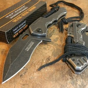 TAC-FORCE TACTICAL Spring Assisted Open STONE WASHED Folding Blade Pocket Knife