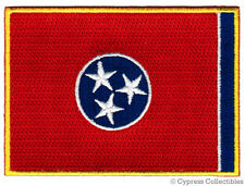 TENNESSEE STATE FLAG PATCH EMBROIDERED IRON-ON new APPLIQUE EMBLEM TN
