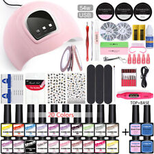 KOSKOE Nail UV Gel Set Base Top UV LED Lamp Nail Decoration File Buffer Tools