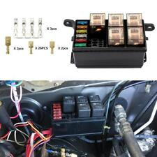 Universal 12V Car Marine 6-Way Relay+ 6-Slot ATO/ATC Blade Fuse Holder Box Block