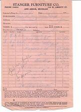 1950's STANGER FURNITURE COMPANY West Liberty Street ANN ARBOR Michigan