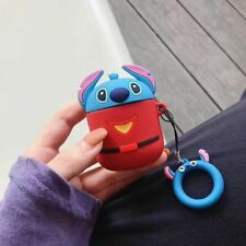 Cartoon Disney Stitch Earphone Cover for apple Airpods Charging Case Holder Bag