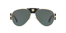 Versace Sunglasses VE 2150Q 1002/71 Gold Havana Gray Green 62MM NWT Auth VE2150Q