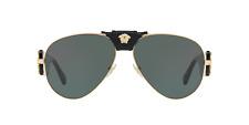 Gafas de sol de oro 1002/71 VE 2150Q Versace Habana Gris Verde 62 mm Nuevo Con Etiquetas Auth VE2150Q