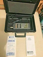 Hanna HI 9034 TDS Portable Meter Complete in Original Case