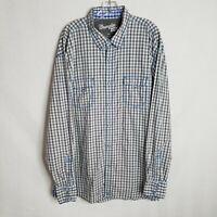 Wrangler 20X Mens Grey White Plaid Snap Button Front Long Sleeve Shirt 2XL X314