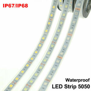 IP67 IP68 Waterproof Under Water LED Strip Light 5050 DC12V Silicon Tube Outdoor